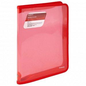 Папка объемная на молнии Axent 1801-24-A, А4, прозрачный красный
