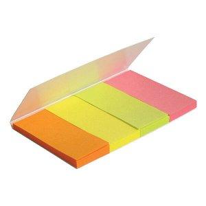 Закладки бумажные Axent 2445-01-A, 4х20х50 мм, 160 штук, неоновые цвета