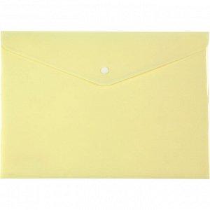 Папка на кнопке Axent Pastelini 1412-08-A, А4, желтая