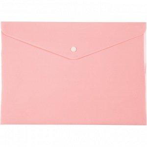 Папка на кнопке Axent Pastelini 1412-10-A, А4, розовая