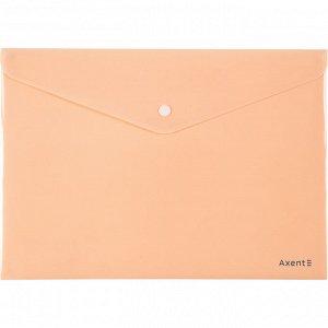 Папка на кнопке Axent Pastelini 1412-42-A, А4, персиковая