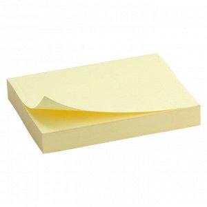 Блок бумаги с липким слоем Delta D3312-01, 50x75 мм, 100 листов, желтый