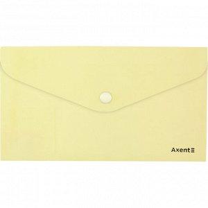 Папка-конверт на кнопке, DL, Pastelini, желтая