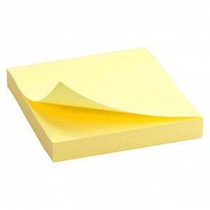 Блок бумаги с липким слоем Delta D3314-01, 75x75 мм, 100 листов, желтый