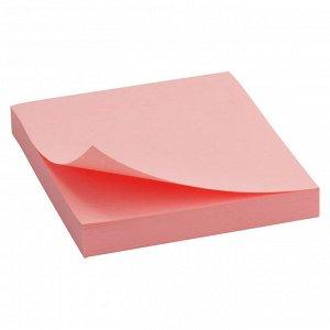Блок бумаги с липким слоем Delta D3314-03, 75x75 мм, 100 листов, розовый