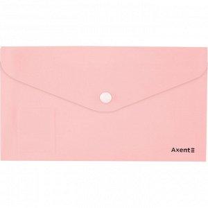 Папка-конверт на кнопке, DL, Pastelini, розовая