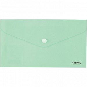 Папка-конверт на кнопке, DL, Pastelini, мятная