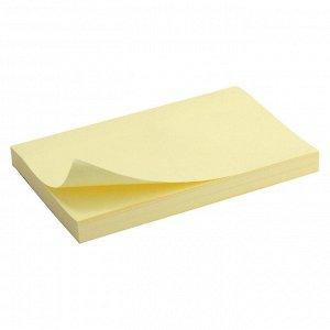 Блок бумаги с липким слоем Delta D3316-01, 75x125 мм, 100 листов, желтый