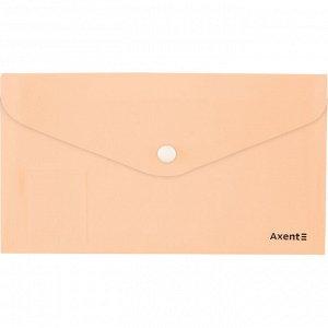 Папка-конверт на кнопке, DL, Pastelini, персиковая