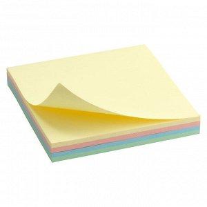 Блок бумаги с липким слоем Delta D3325-01, 75x75 мм, 100 листов, пастельные цвета
