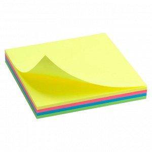 Блок бумаги с липким слоем Delta D3325-02, 75x75 мм, 100 листов, неоновые цвета