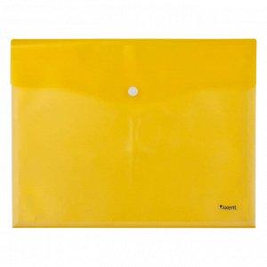 Папка на кнопке Axent 1423-08-A 5 файлов, А4, желтая