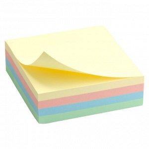 Блок бумаги с липким слоем Delta D3350, 75x75 мм, 250 листов, пастельные цвета