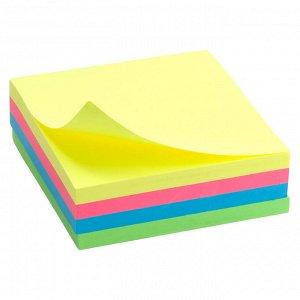 Блок бумаги с липким слоем Delta D3351, 75x75 мм, 250 листов, неоновые цвета