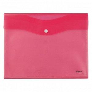 Папка на кнопке Axent 1423-10-A 5 файлов, А4, розовая