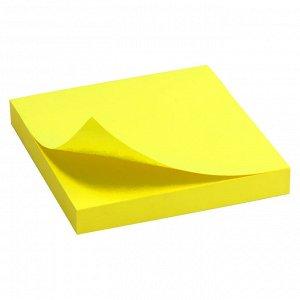 Блок бумаги с липким слоем Delta D3414-11, 75x75 мм, 100 листов, желтый