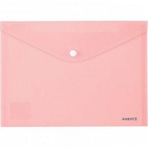 Папка на кнопке Axent Pastelini 1522-10-A, А5, розовая