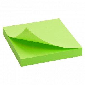 Блок бумаги с липким слоем Delta D3414-12, 75x75 мм, 100 листов, зеленый