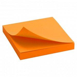 Блок бумаги с липким слоем Delta D3414-15, 75x75 мм, 100 листов, оранжевый