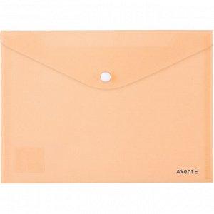 Папка на кнопке Axent Pastelini 1522-42-A, А5, персиковая