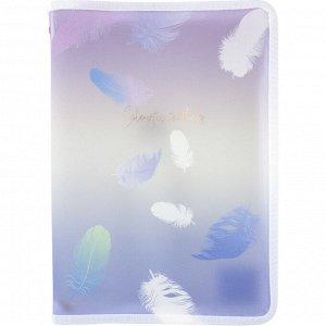 Папка объемная на молнии Axent Colourful Feather 1807-93-A, А4+
