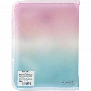 Папка объемная на молнии Axent Colourful Feather 1808-91-A, А5+