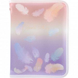 Папка объемная на молнии Axent Colourful Feather 1808-92-A, А5+