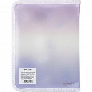 Папка объемная на молнии Axent Colourful Feather 1808-93-A, А5+