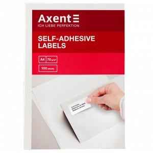 Самоклеящиеся этикетки Axent 2471-A 100 листов A4, 210x148.5 мм