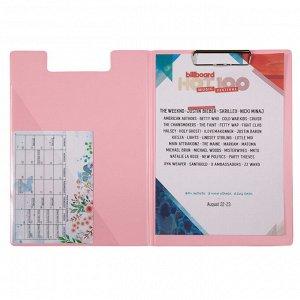 Папка-планшет с металлическим клипом Axent Pastelini 2514-10-A, А4, розовый