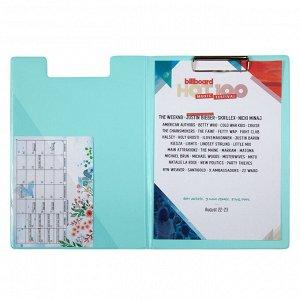 Папка-планшет с металлическим клипом Axent Pastelini 2514-18-A, А4, мятный
