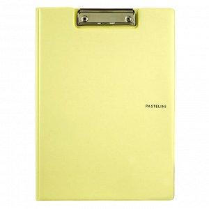 Папка-планшет с металлическим клипом Axent Pastelini 2514-26-A, А4, желтый