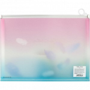 Папка на молнии zip-lock Axent Colourful Feather 1452-91-A, А4+