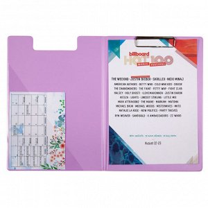 Папка-планшет с металлическим клипом Axent Pastelini 2514-36-A, А4, сиреневый