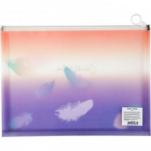 Папка на молнии zip-lock Axent Colourful Feather 1452-92-A, А4+