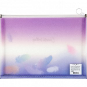 Папка на молнии zip-lock Axent Colourful Feather 1452-93-A, А4+