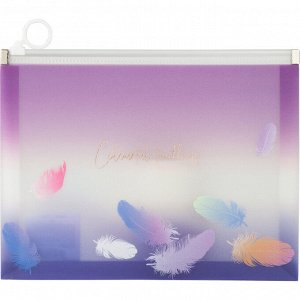 Папка на молнии zip-lock Axent Colourful Feather 1462-93-A, А5+
