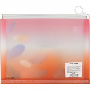 Папка на молнии zip-lock Axent Colourful Feather 1462-94-A, А5+