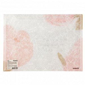 Папка на кнопке Axent Fleur 1495-10-A, А4+, розовая