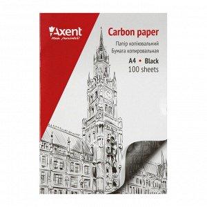 Бумага копировальная Axent 3301-01-A, 100 листов, А4, черная