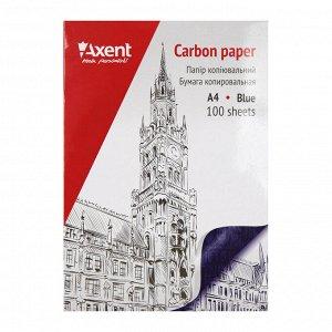 Бумага копировальная Axent 3301-02-A, 100 листов, А4, синяя