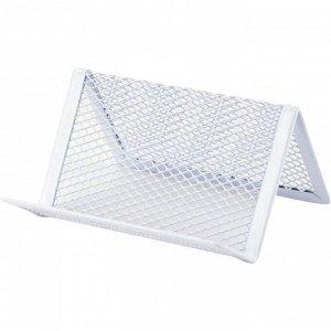 Подставка для визиток Axent 2114-21-A, 95x80x60 мм, металлическая сетка, белая