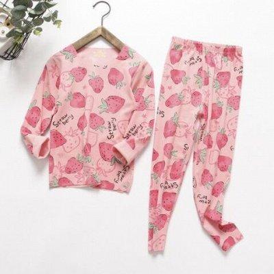 Детям! Тёплые штаны, пижамы, кофточки, футболки — Пижамы бесшовные — Одежда для дома