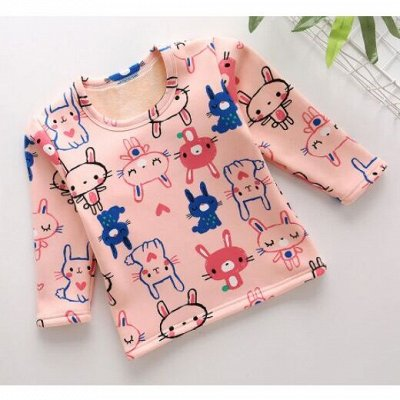Детям! Тёплые штаны, пижамы, кофточки, футболки — Утепленные лонгсливы — Одежда для дома
