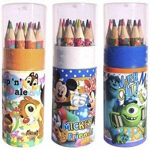 Набор цветных карандашей 12шт 9 см.