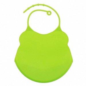 Слюнявчик для кормления силиконовый (зеленый)