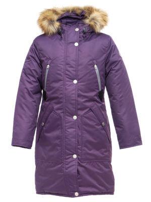 Зимняя курта для девочки Д 126 ФИОЛЕТОВАЯ (128 — 164)