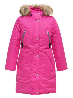 Зимняя курта для девочки Д 126 МАЛИНОВЫЙ (128 — 164)