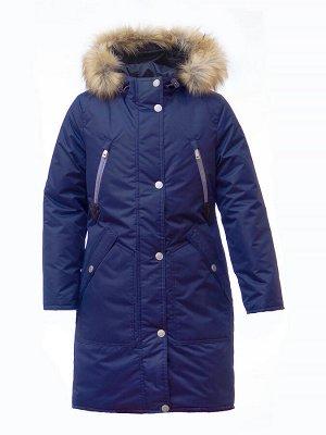 Зимняя курта для девочки Д 126 ТЁМНО-СИНИЙ (128 — 164)