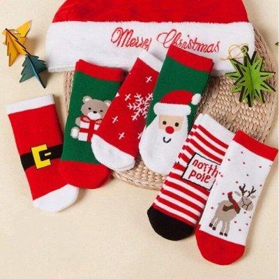 🧚♂️👗🧚♂️Детская экономка - Новогодняя Сказка 🧚♂️👗🧚♂️ — Носки Новогодний Принт — Носки и гольфы